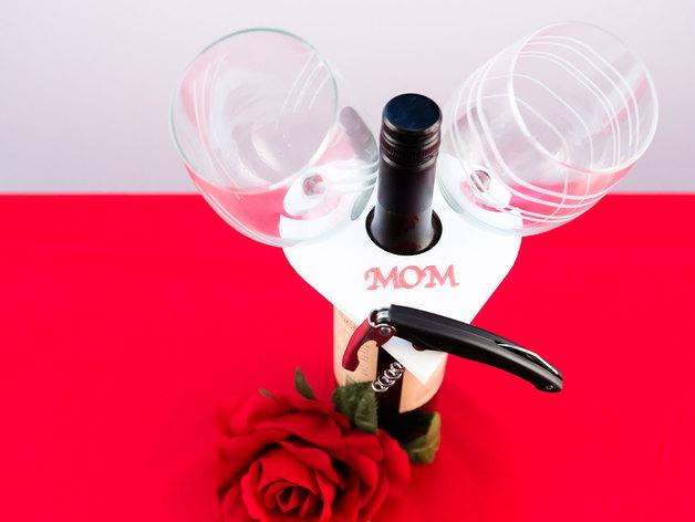 多功能玻璃酒杯架 3D打印模型渲染图