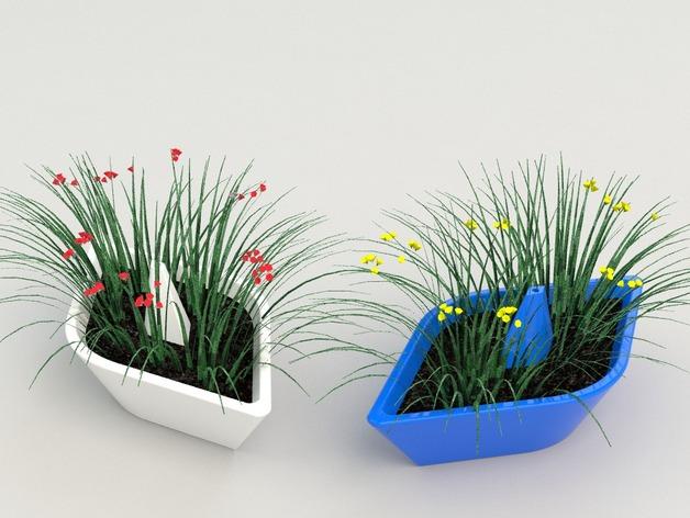 迷你可爱花盆 3D打印模型渲染图