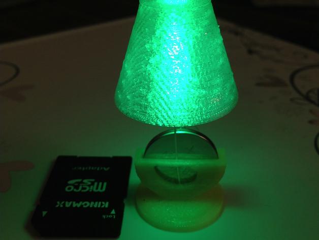 桌面台灯灯罩 3D打印模型渲染图