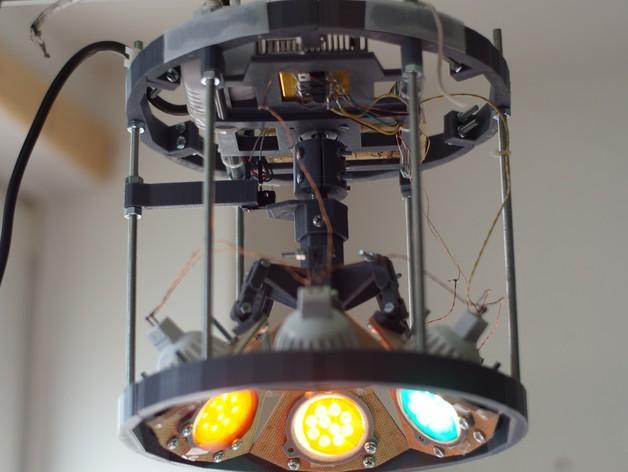 太阳能植物台灯 3D打印模型渲染图