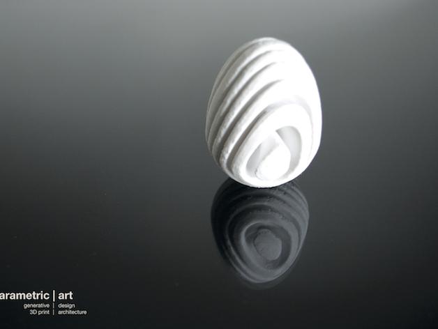 参数化复活节彩蛋  3D打印模型渲染图