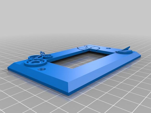 蒸汽朋克电灯开关盖No.2 3D打印模型渲染图