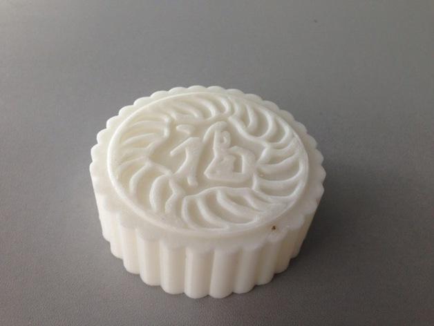 月饼 3D打印模型渲染图
