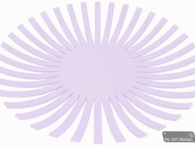 果盘 3D打印模型渲染图