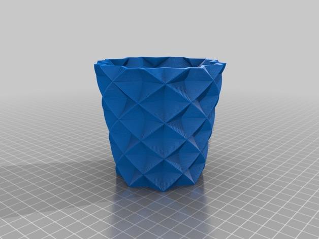 方杯 方瓶 3D打印模型渲染图