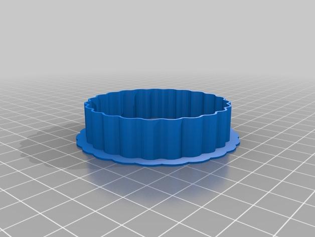 扇形曲奇刀 3D打印模型渲染图