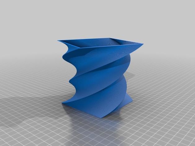 方瓶 方杯 3D打印模型渲染图