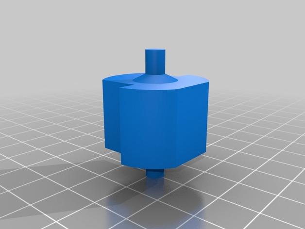 胶带座轮 3D打印模型渲染图