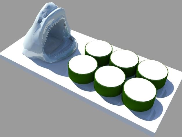 鲨鱼寿司盘