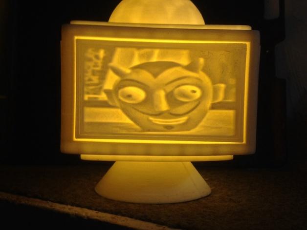 灯饰发光盒 3D打印模型渲染图