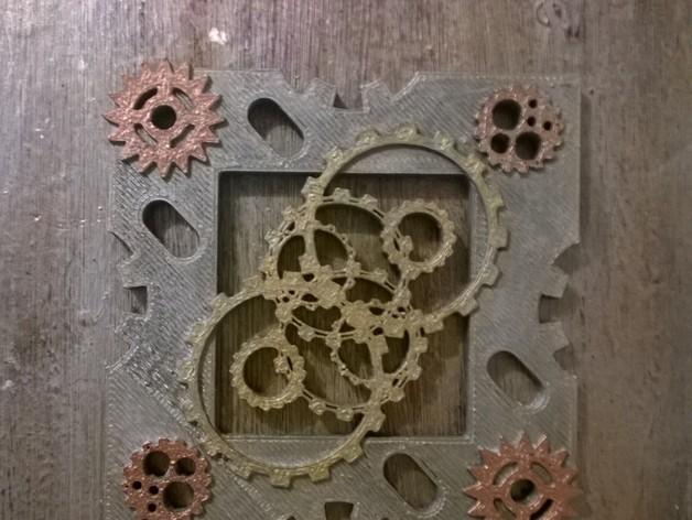 朋克风小托盘 3D打印模型渲染图