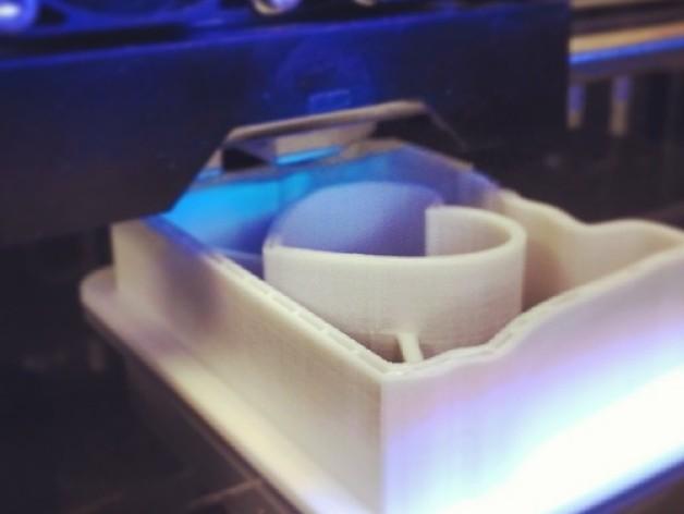 心形饼干制作模具 3D打印模型渲染图