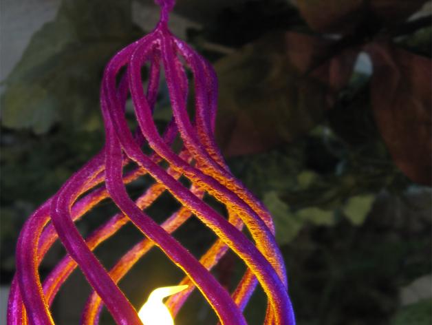 鸟笼 吊坠 3D打印模型渲染图