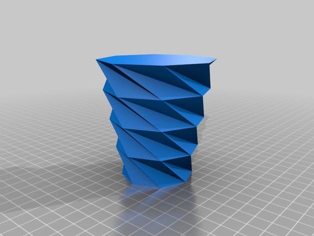 螺旋八边形花瓶