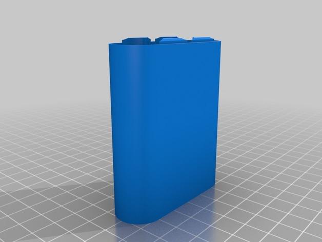 18650电池盒 3D打印模型渲染图