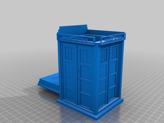 塔迪斯饼干罐 3D打印模型渲染图