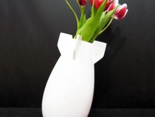 炸弹花瓶 3D打印模型渲染图