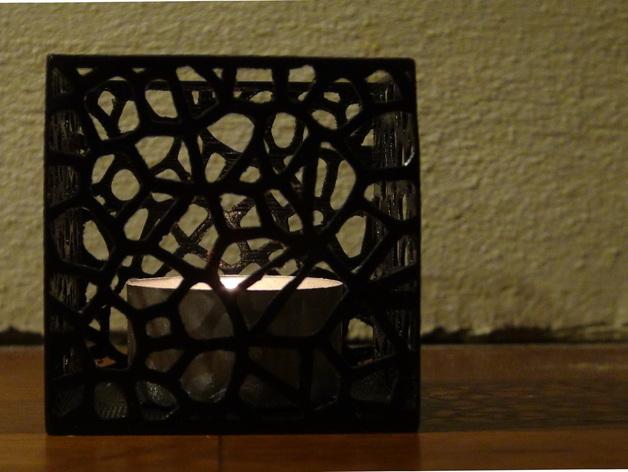 多边形镂空茶灯灯罩