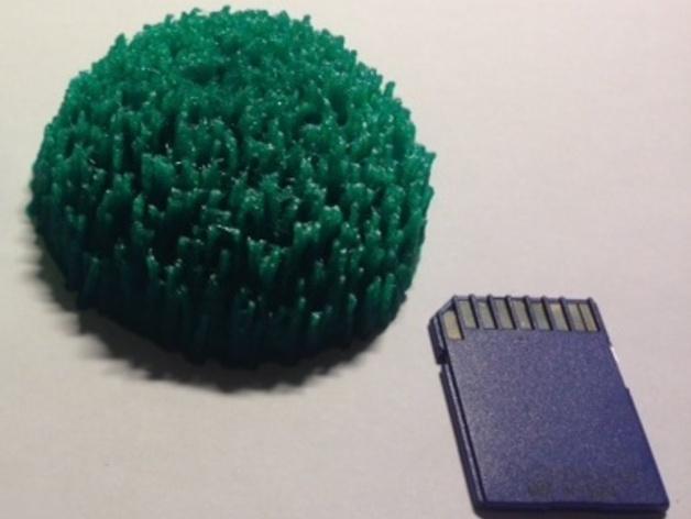 定制化小山丘 3D打印模型渲染图