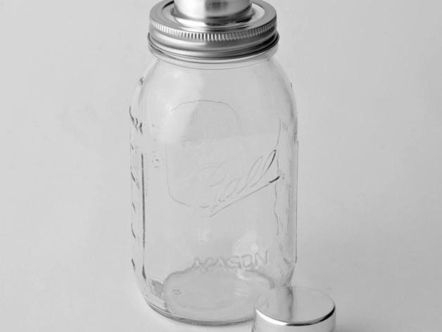 玻璃瓶鸡尾酒调制器 3D打印模型渲染图