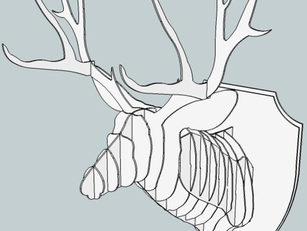 壁挂式鹿头装饰品