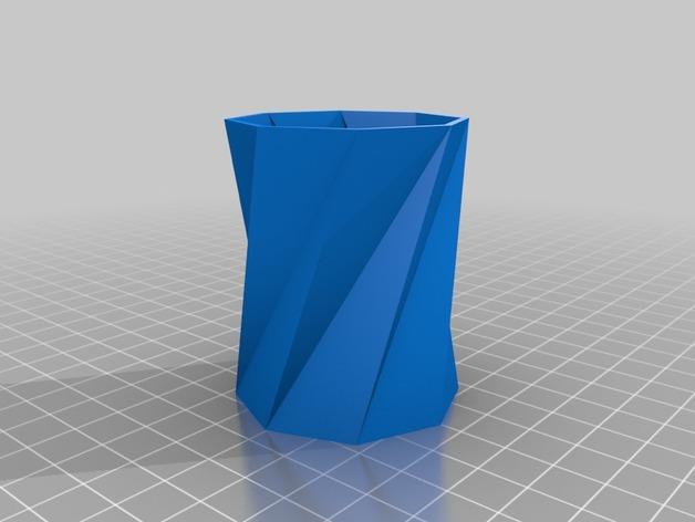 螺旋八边形水杯