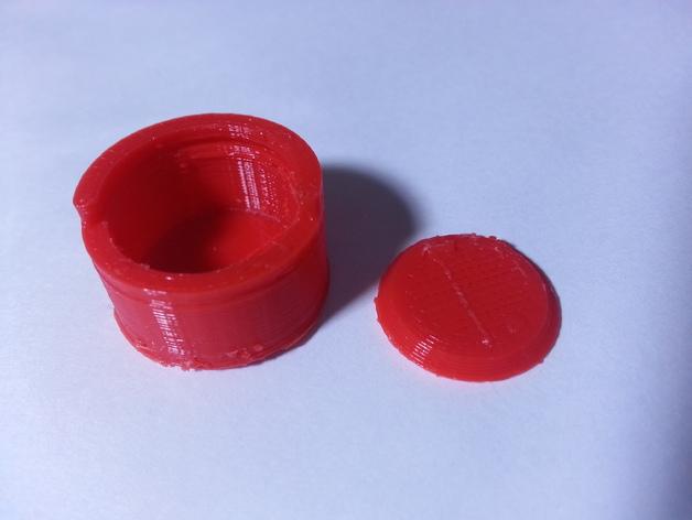 定制化圆柱形容器 3D打印模型渲染图