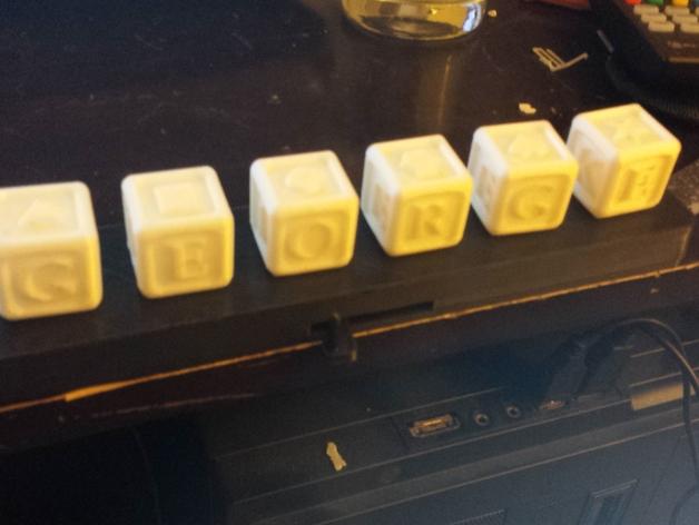 字母方块 3D打印模型渲染图