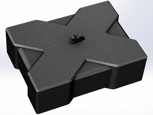 X方形小盒 3D打印模型渲染图
