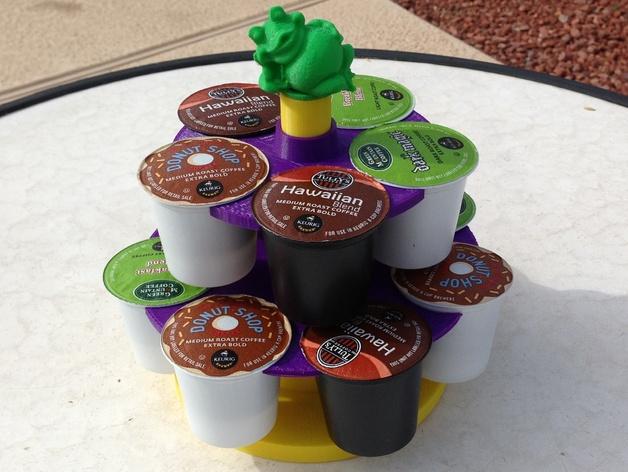 青蛙 咖啡胶囊架 3D打印模型渲染图