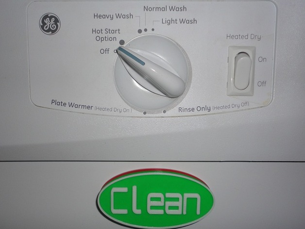 洗碗机状态磁力贴 3D打印模型渲染图