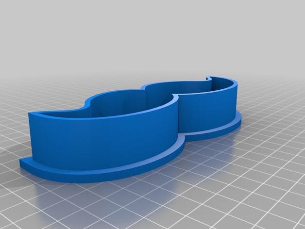 胡须 饼干制作模具 3D打印模型渲染图