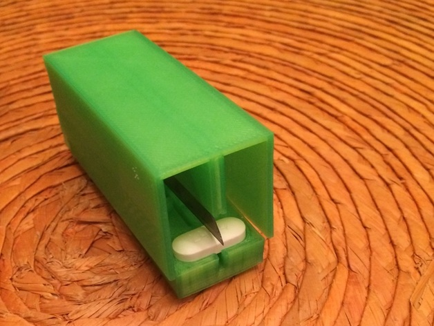 药丸切割机  3D打印模型渲染图