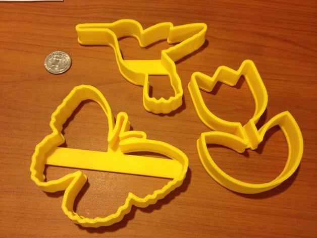 蜂鸟 蝴蝶 花 饼干制作模具