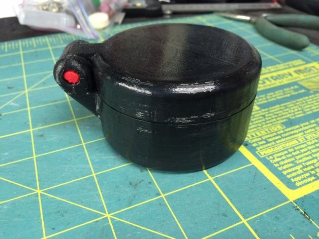 圆形储物盒 3D打印模型渲染图