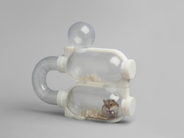 模块化胶囊仓鼠屋 3D打印模型渲染图