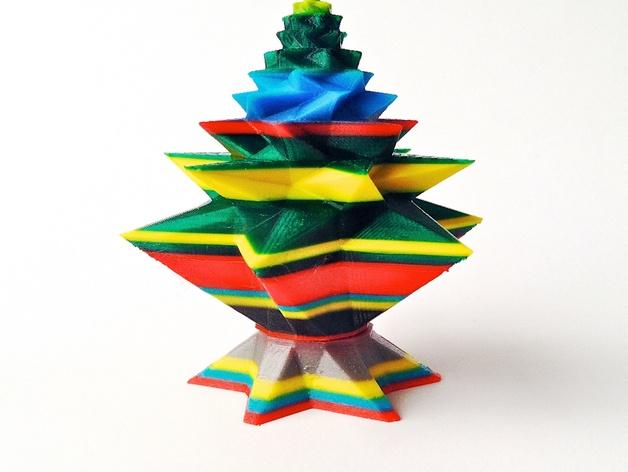 几何形圣诞树