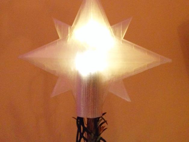 圣诞树顶部装饰品 3D打印模型渲染图