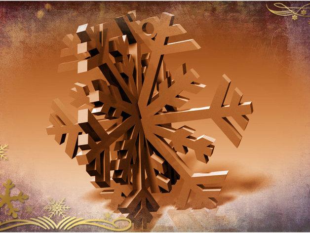 3D雪花 3D打印模型渲染图