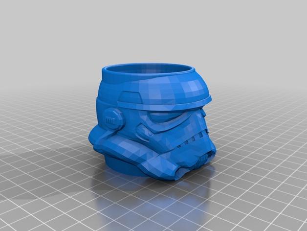 突击队员 鸡蛋杯 3D打印模型渲染图