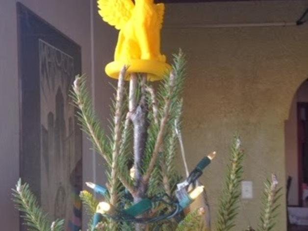 小猫圣诞树树顶装饰品