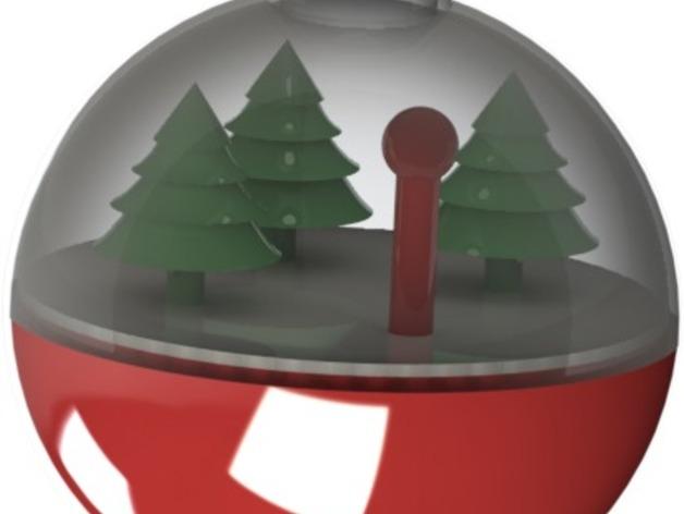 雪景球/雪花玻璃球 装饰品