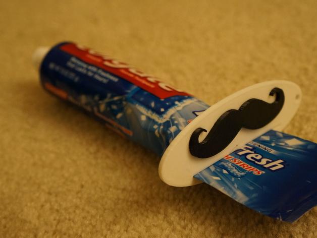 胡须 牙刷挤出装置 3D打印模型渲染图