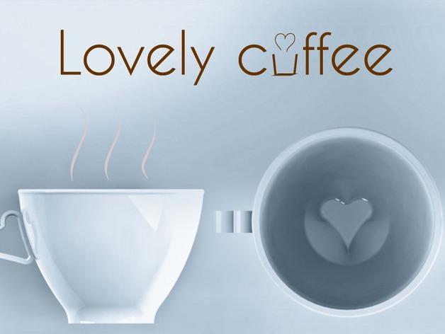 迷你可爱咖啡杯 3D打印模型渲染图