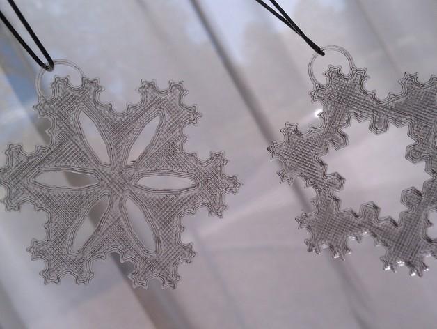 科赫雪花 装饰品 3D打印模型渲染图