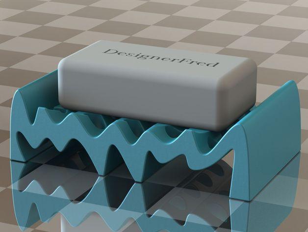 波状肥皂盒