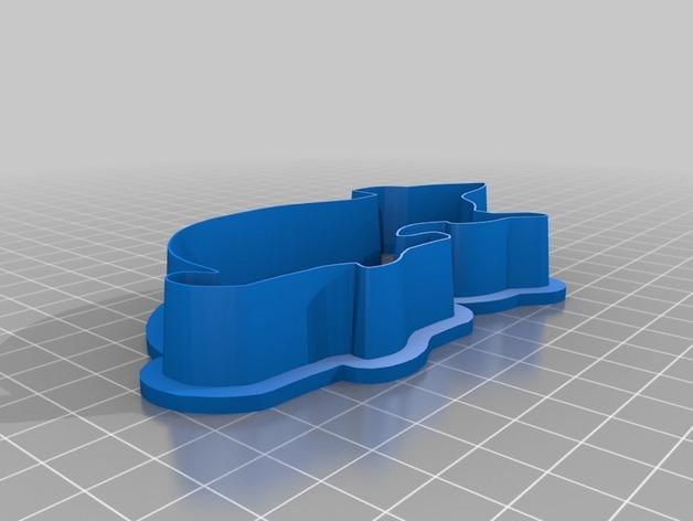 万圣节饼干模具 3D打印模型渲染图