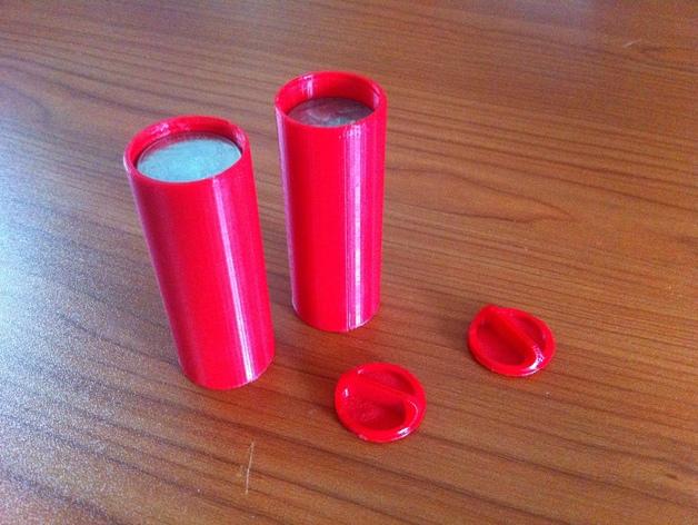 硬币存放筒 3D打印模型渲染图