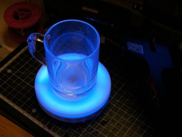 智能杯垫 3D打印模型渲染图