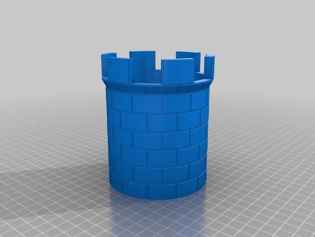 城堡塔楼 3D打印模型渲染图